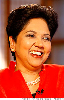 PepsiCo CEO Indra Nooyi is the queen of pop - Sep. 10, 2009