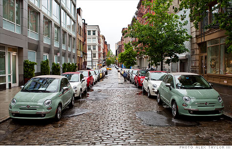 fiat gets a soho makeover for its 500 cabrio - may. 25, 2011