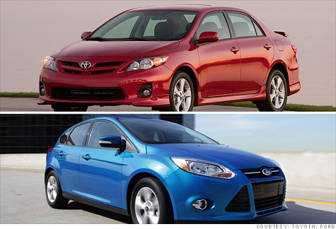 Toyota Corolla and Ford Focus