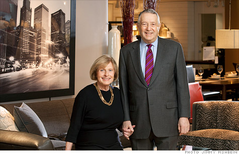 Crate & Barrel founders Carole and Gordon Segal: