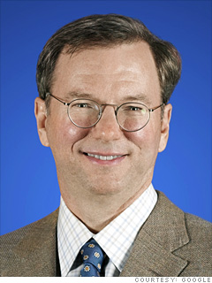 Eric Schmidt, CEO and chairman, Google