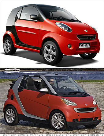 Shuanghuan Noble vs. Mercedes Smart Fortwo